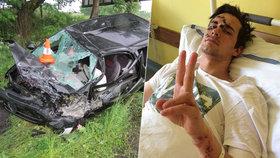 Slavného youtubera v autě rozsekal kamion: Přežil jen zázrakem