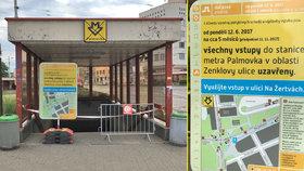 Vstupy do metra na Palmovce »zatarasili«: Víme proč