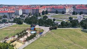 Pláž v Praze 6: U Vítězného náměstí vznikne prostor s lehátky a hradem