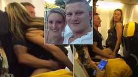 Muž, který souložil na palubě letadla: Doma na něj čekala těhotná snoubenka