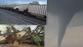 Tornádo smetlo vlak: Americkou Nebrasku zasáhla silná bouře