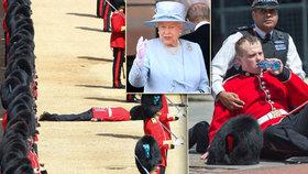 Vojáci při oslavě narozenin Alžběty II. padali jako švestky! Nevydrželi horko