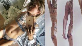 Kateřina Kaira Hrachovcová provokuje: Nové tetování přes celé tělo!