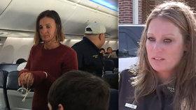 Žena chtěla za letu otevřít nouzový východ. Na palubě ji zpacifikovali