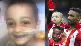 Malý bojovník (†6) zemřel na rakovinu: Slavný fotbalista se neubránil slzám