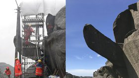 Norové se složili na novou erekci skalního penisu. Poničil ho neznámý vandal