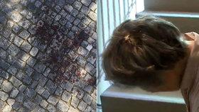 Najednou rána do hlavy, promluvila o napadení žena z Podolí. Na chodník z ní crčela krev
