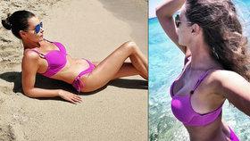 Hojně obdařená Kubelková: Takhle dráždí jižany na pláži v bikinách!