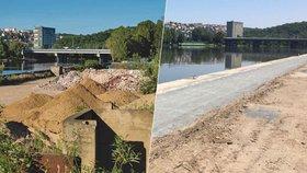 Z Holešovic na kole podél řeky do zoo: Část náplavky v Praze 7 ožívá