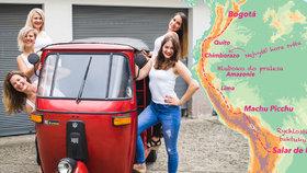 """Pět Češek v tuk tuku chce dobýt Jižní Ameriku: """"Ženské do expedic patří,"""" říkají"""