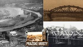 Libeňský most měl dřevěného předchůdce: Původně stál u Národního divadla