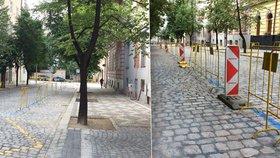 Belgickou ulici na Vinohradech po 17 měsících otevřeli: Zbývá vysadit stromy