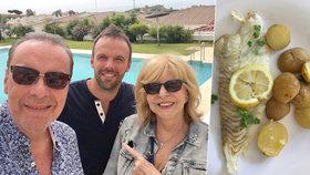 Zagorová s Margitou se vrací z dovolené! Proč musela zpěvačka vařit?