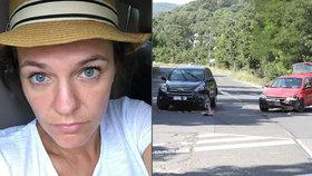 Marta Jandová měla autonehodu, když vezla manžela do nemocnice. Smetl je jiný řidič!