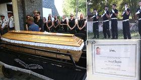 Pohřeb policisty, kterého srazila Michaela (26): Ani silní chlapi se neubránili slzám!