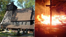 Vyhořelý kostel v Gutech: Lidé za týden přispěli už 630 tisíc!