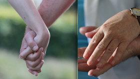 Jak se drží za ruce milenci a manželé? Muži v gestu vidí majetek, ženy jistotu