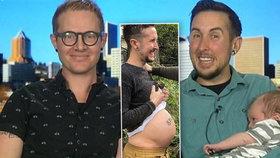 Těhotný muž porodil chlapečka svému homosexuálnímu manželovi. Už nikdy více, říká