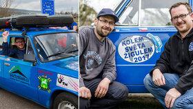 Nadšenci z Česka na cestě kolem světa žigulíkem už urazili 25.000 km