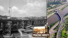 Barrandovský most stavěli 10 let. Už tehdy s ním pomáhaly počítače