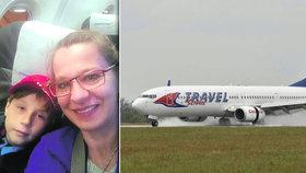 Letadlo Travel Service z Egypta mělo zpoždění 30 hodin. Jaroslava z toho nespala