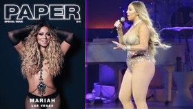 Přifouknutá, vyfouknutá Mariah Carey: Za upravené fotky pod palbou kritiky, realita je úplně jiná