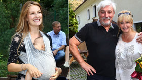 Rosáková se pochlubila pětiměsíčním Ryanem: Na tátovu oslavu ho přinesla v šátku