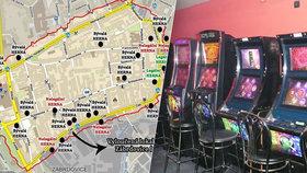 Bič na gamblery. Mapa tajných hráčských doupat! Brno čistí město od hazardu