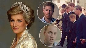 Smrt princezny Diany: Prince Williama a Harryho po smrti mámy přinutili kráčet za rakví