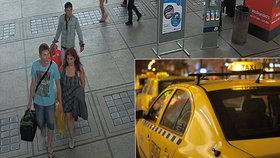 Taxikáře v Pardubicích přepadli dva cizinci: Škrtili ho drátem, pak utekli na vlak