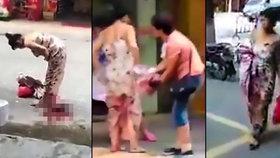 Překotný porod uprostřed ulice: Zakrvácená maminka si odnesla miminko i s nákupem