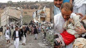 Hrůza v Jemenu. Životem za válku zaplatilo už tisíc dětí, zemí se dál šíří i cholera