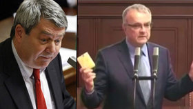 Udělali jste z nás kolonii SSSR, hřímal Herman na KSČM. A Kalousek donesl Sněmovně máslo