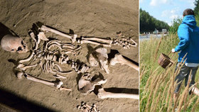 Hrůzný nález při houbaření: Na Českokrumlovsku našel muž v lese lidskou kostru