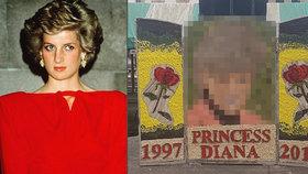 (Zne)uctili památku princezny Diany! Její strašidelný portrét je hitem internetu
