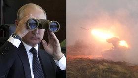 Skandál před Putinovou inspekcí: Zbloudilá raketa z vrtulníku prý zasáhla civilisty