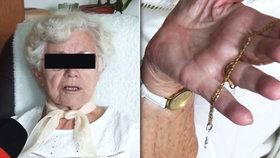 Feťák (37) serval seniorce (88) řetízek: Nedala se! Popadla ho za batoh a držela, než přijela policie