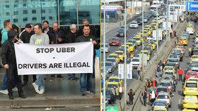 Taxikáři plánují v pátek zablokovat Prahu: Policie chce problémům v dopravě předejít