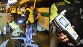 Zátah policistů na Jižní spojce: Drogy, alkohol za volantem a čtvrtina taxikářů s problémy