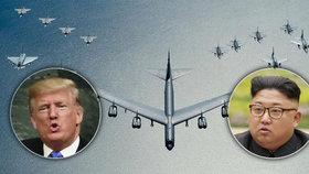 Útok na USA je nevyhnutelný, varuje KLDR. Kolem ní létají Trumpovy bombardéry