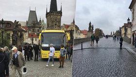 Autobus vjel na Karlův most: Případnému teroristickému útoku tam nebrání ani sloupek