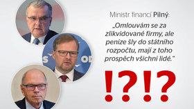 Skandální výrok Pilného využili u Kalouska i ODS. Ministr tvrdí: Bylo to jinak