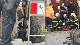 V Braníku spadl muž (69) do výkopu, těžce se poranil. Uvedli ho do umělého spánku