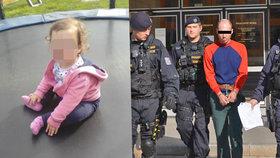 Otec obviněný z vraždy dcery (†3) jde do vazby! Hrozí mu výjimečný trest