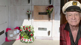 Tichý pohřeb otce Playboye: Hefnera uložili do hrobu v pyžamu