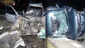 Neuvěřitelné: Tohle všichni přežili! Ze srážky dvou aut odvezli záchranáři »jen« čtyři zraněné