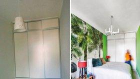 Ustláno pod palmou. Pestrobarevná ložnice pro cestovatelku