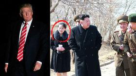 Kim dosadil do vedení KLDR sestru místo zavržené tety. Trump poslal záhadný vzkaz