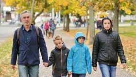 Petr Vacek ukázal děti: Chyběla dcera, která odešla s matkou do Belgie