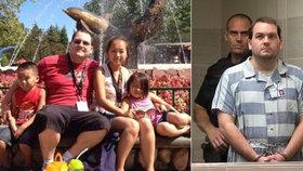 Robert brutálně zavraždil své tři děti: Teď mu hrozí trest smrti